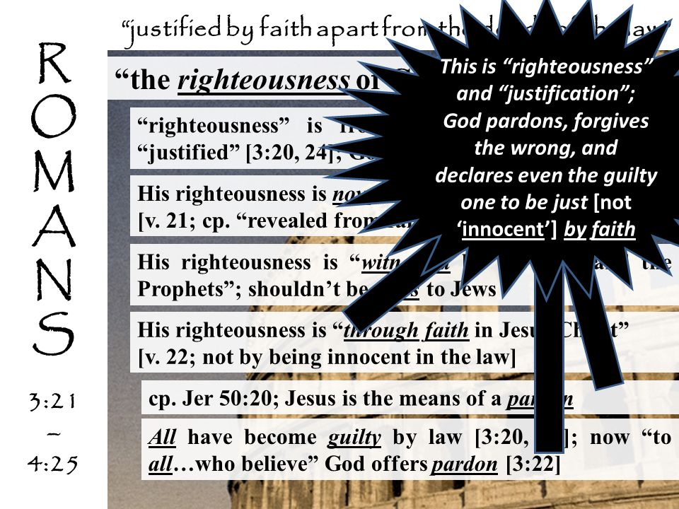 R O M A N S the righteousness of God [3:21-26]